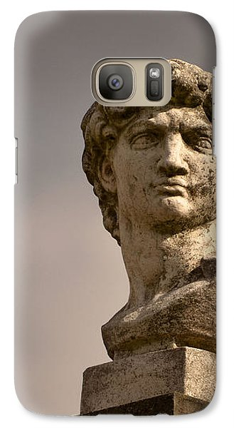 Galaxy Case featuring the photograph Bust Of Apollo by Nadalyn Larsen