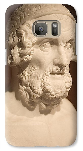 Galaxy Case featuring the photograph Bust Of Homer by Mark Greenberg