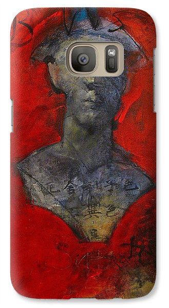 Galaxy Case featuring the painting Bust Ted - With Sawdust And Tinsel  by Cliff Spohn