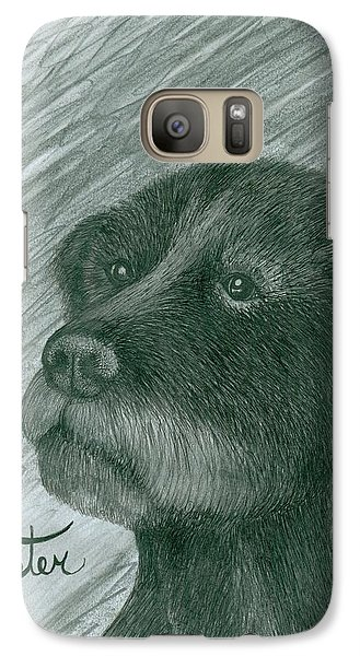 Galaxy Case featuring the drawing Buster by Richie Montgomery