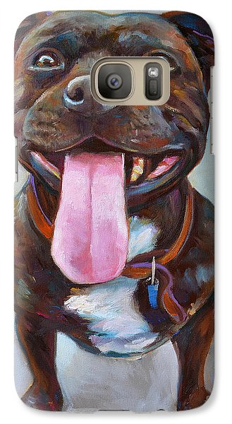 Galaxy Case featuring the painting Buster  by Robert Phelps