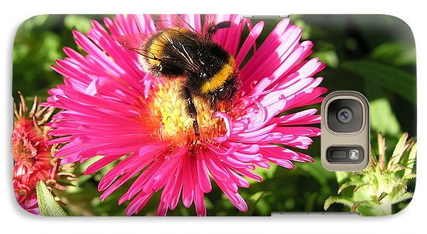 Galaxy Case featuring the photograph Busy Bee by Bev Conover