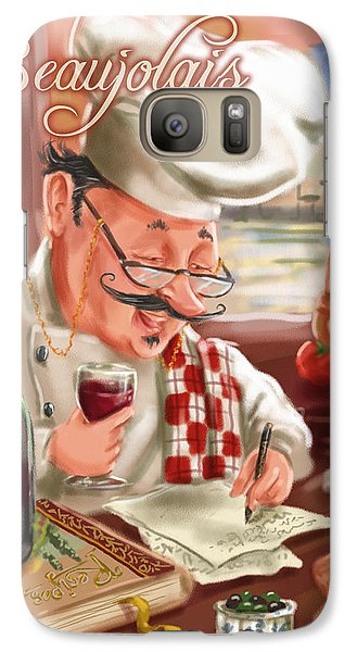 Busy Chef With Beaujolais Galaxy S7 Case
