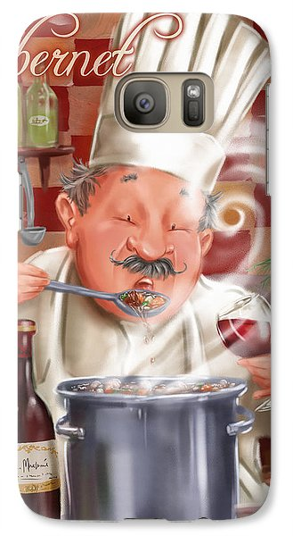 Busy Chef With Cabernet Galaxy S7 Case