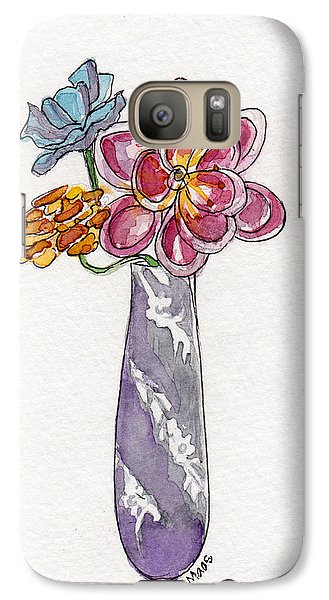 Galaxy Case featuring the painting Butter Knife Vase With Flowers by Julie Maas