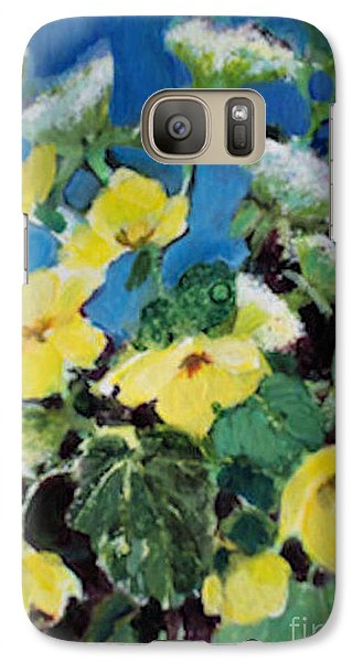 Galaxy Case featuring the painting Buttercups And Queen Anne's Lace by Diane Ursin