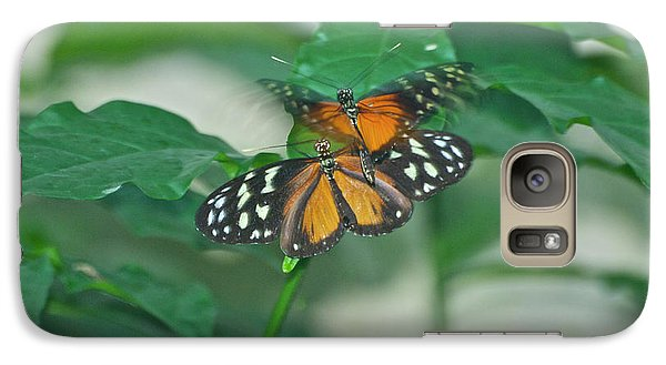 Galaxy Case featuring the photograph Butterflies Gentle Touch by Thomas Woolworth