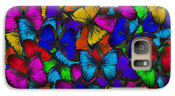 Galaxy Case featuring the photograph Butterflies In Flight Panorama by Kyle Hanson