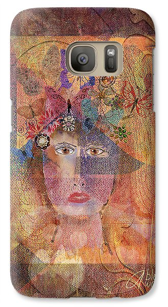 Galaxy Case featuring the digital art Butterflies In Her Hair by Arline Wagner