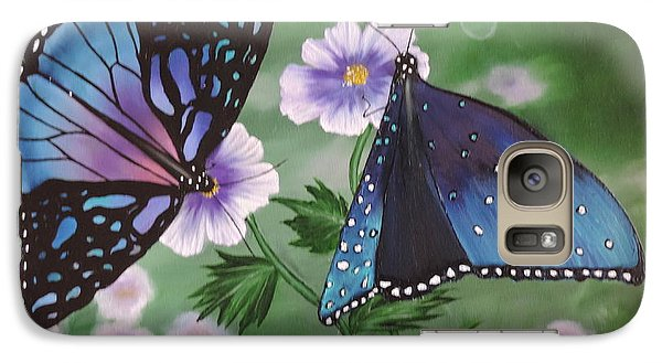 Galaxy Case featuring the painting Butterfly #2 by Dianna Lewis