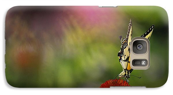 Galaxy Case featuring the photograph Butterfly And Cone Flower by Elsa Marie Santoro