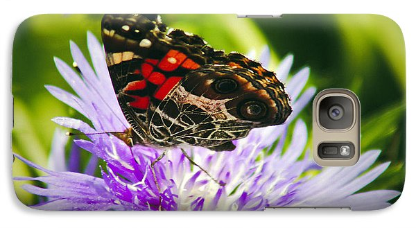 Galaxy Case featuring the photograph Butterfly And Flower by Debra Crank