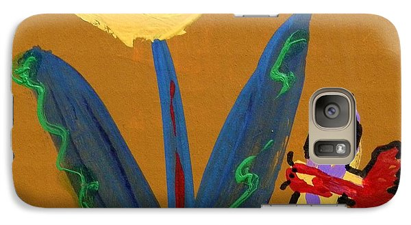 Galaxy Case featuring the painting Butterfly And Friend by Mary Carol Williams
