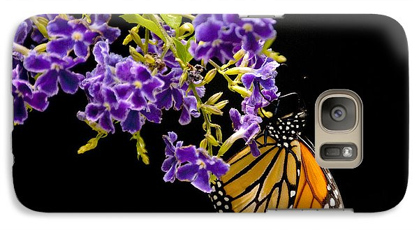 Galaxy Case featuring the photograph Butterfly Attraction by Phyllis Peterson