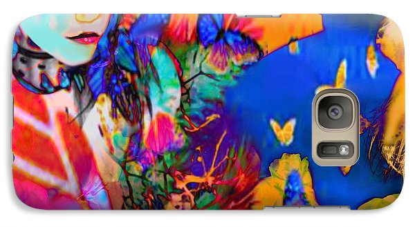 Galaxy Case featuring the digital art Butterfly Beauties by Diana Riukas