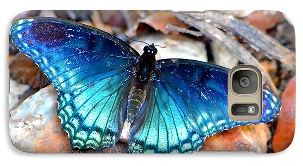 Galaxy Case featuring the photograph Butterfly Blue  by Deena Stoddard