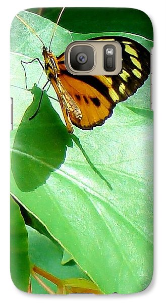Galaxy Case featuring the photograph Butterfly Chasing Shadow by Janette Boyd