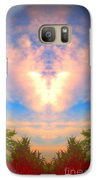 Galaxy Case featuring the photograph Butterfly Cloud by Karen Newell