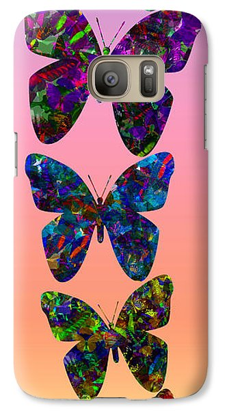 Galaxy Case featuring the photograph Butterfly Collage IIII by Robert Meanor