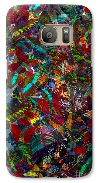 Galaxy Case featuring the photograph Butterfly Collage Red by Robert Meanor