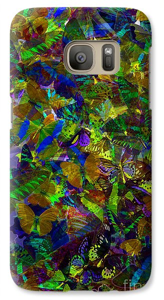Galaxy Case featuring the photograph Butterfly Collage Yellow by Robert Meanor