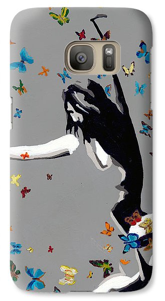 Galaxy Case featuring the painting Butterfly Dance by Denise Deiloh