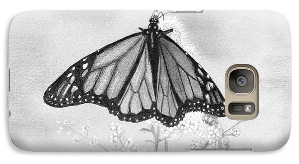 Galaxy Case featuring the drawing Butterfly by Denise Deiloh