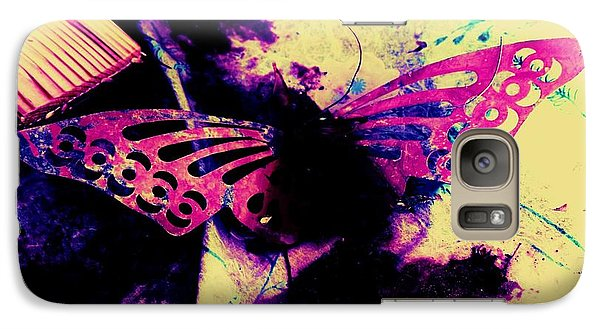 Galaxy Case featuring the photograph Butterfly Disintegration  by Jessica Shelton