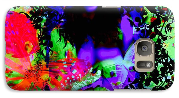 Galaxy Case featuring the digital art Butterfly Dream by Diana Riukas