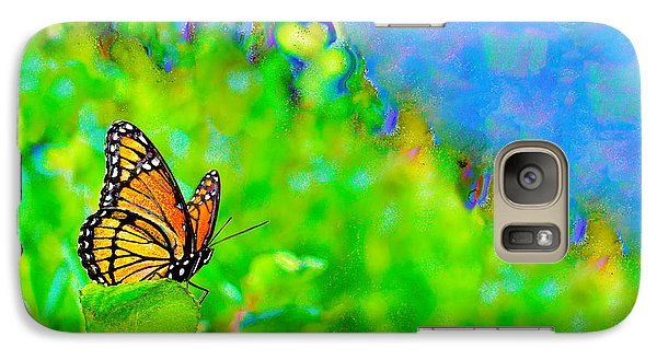 Galaxy Case featuring the photograph Butterfly Fantasy by Marianne Campolongo