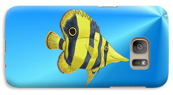 Galaxy Case featuring the digital art Butterfly Fish by Chris Thomas