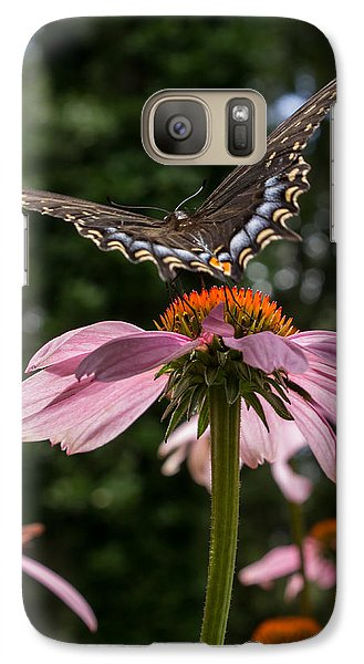 Galaxy Case featuring the photograph Butterfly Flies Away by Glenn DiPaola