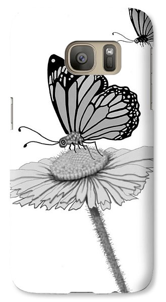 Galaxy Case featuring the digital art Butterfly Friends by Carol Jacobs