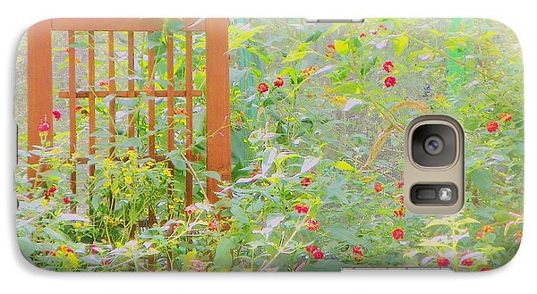 Galaxy Case featuring the photograph Butterfly Garded II by Shirley Moravec