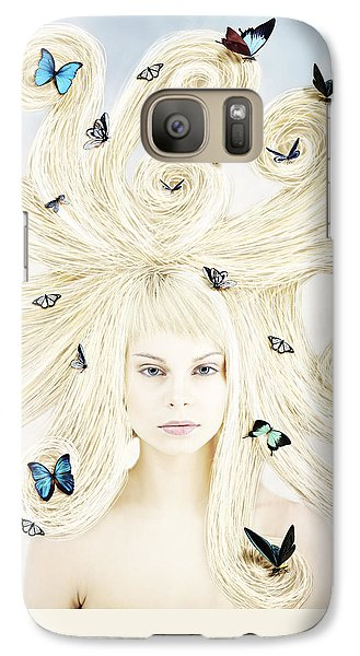 Butterfly Girl Galaxy S7 Case by Linda Lees
