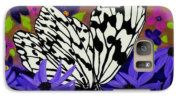 Galaxy Case featuring the painting Butterfly Heaven by Celeste Manning