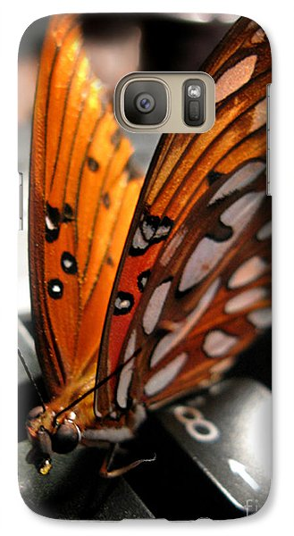 Galaxy Case featuring the photograph Butterfly Home At 7 by Jennie Breeze
