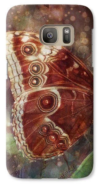 Galaxy Case featuring the photograph Butterfly In My Garden by Barbara Orenya