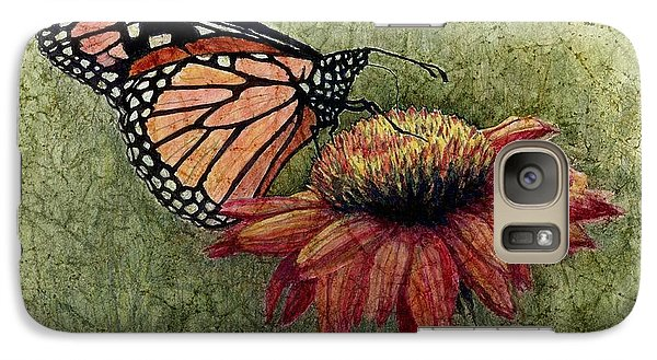 Galaxy Case featuring the painting Butterfly In My Garden by Janet King