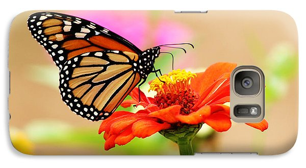 Galaxy Case featuring the digital art Butterfly Lunch by Lorna Rogers Photography