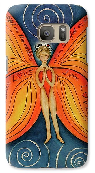 Galaxy Case featuring the painting Butterfly Mantra by Deborha Kerr
