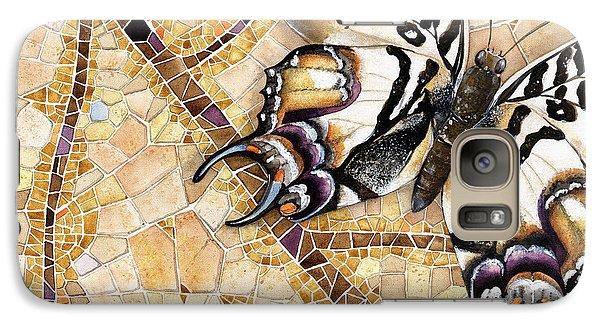 Galaxy Case featuring the painting Butterfly Mosaic 01 Elena Yakubovich by Elena Yakubovich