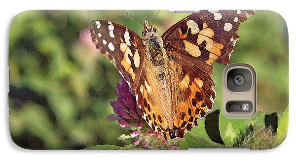 Galaxy Case featuring the photograph Butterfly On Clover by Brooke T Ryan