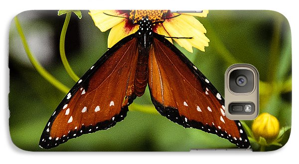 Galaxy Case featuring the photograph Butterfly On Coreopsis by Cathy Donohoue