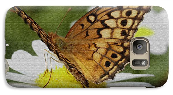Galaxy Case featuring the photograph Butterfly On Daisy by James C Thomas