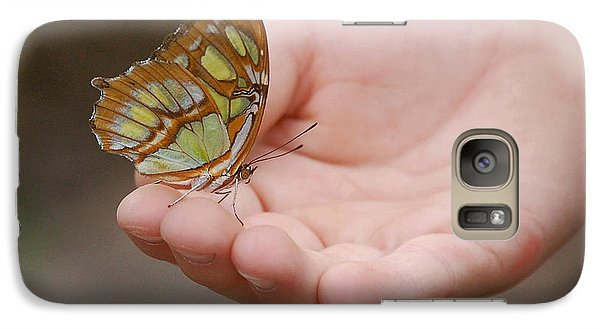Galaxy Case featuring the photograph Butterfly On Hand by Leticia Latocki