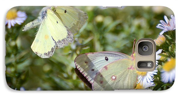 Galaxy Case featuring the photograph Butterfly Moments  by Kerri Farley