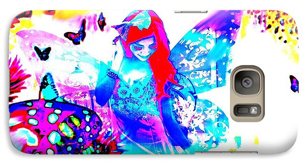 Galaxy Case featuring the digital art Butterfly Princess by Diana Riukas