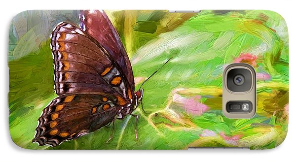 Galaxy Case featuring the photograph Butterfly - Red-spotted Purple by Ludwig Keck