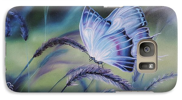 Galaxy Case featuring the painting Butterfly Series #3 by Dianna Lewis